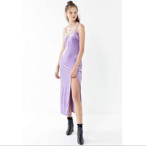 Urban Outfitters Velvet Cross-Back Maxi Dress